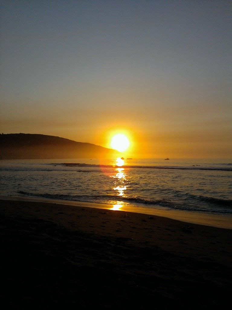 sunrise or sunset in malibu...?  shot with my (crappy) samsung phone.  :D