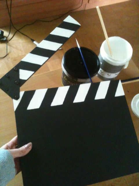 Diy Movie Clapper By Something On Everything Bulletin Boards