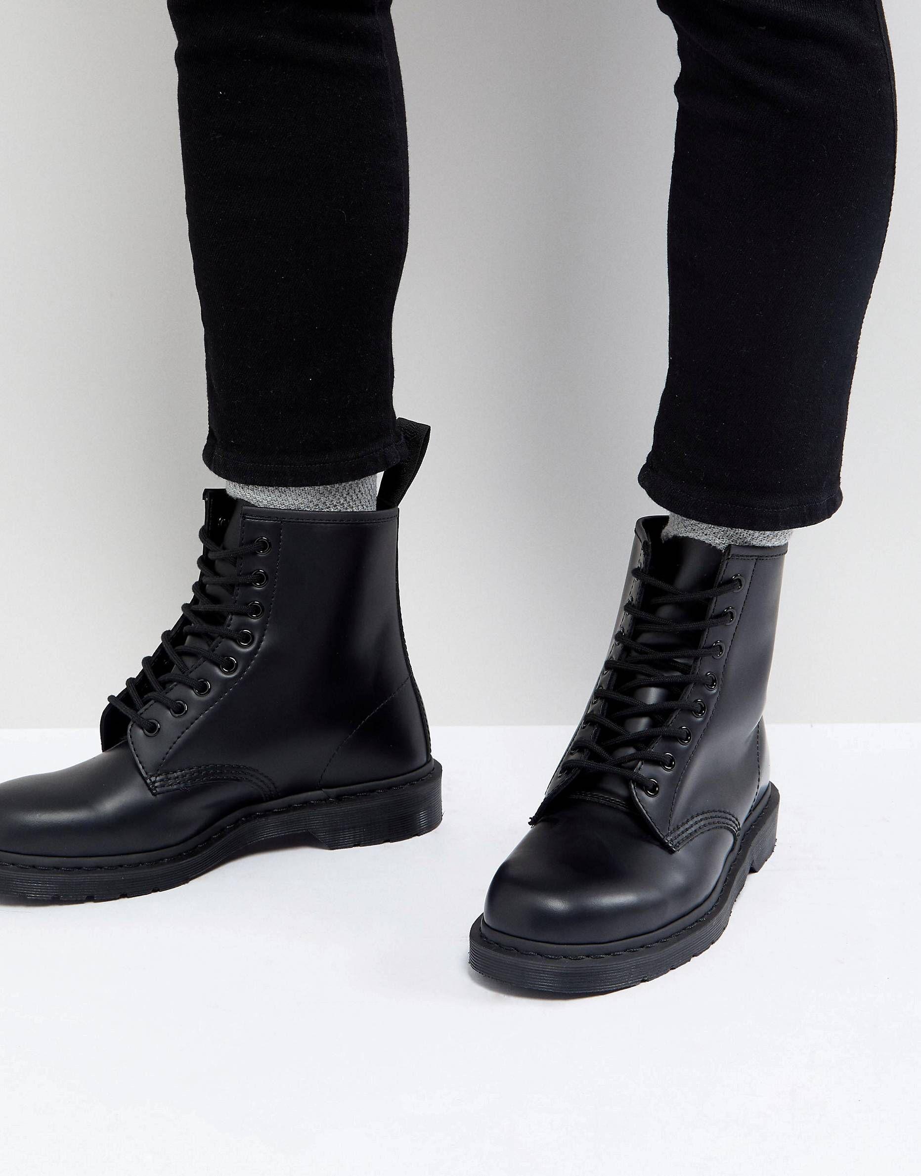 mono black doc martens