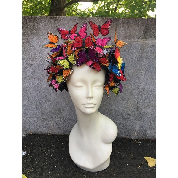 dc6d167e0f6ba Butterfly Headpiece Butterfly Headdress-Derby-Spring Fascinator-Derby...  ( 260) ❤ liked on Polyvore featuring accessories and hair accessories