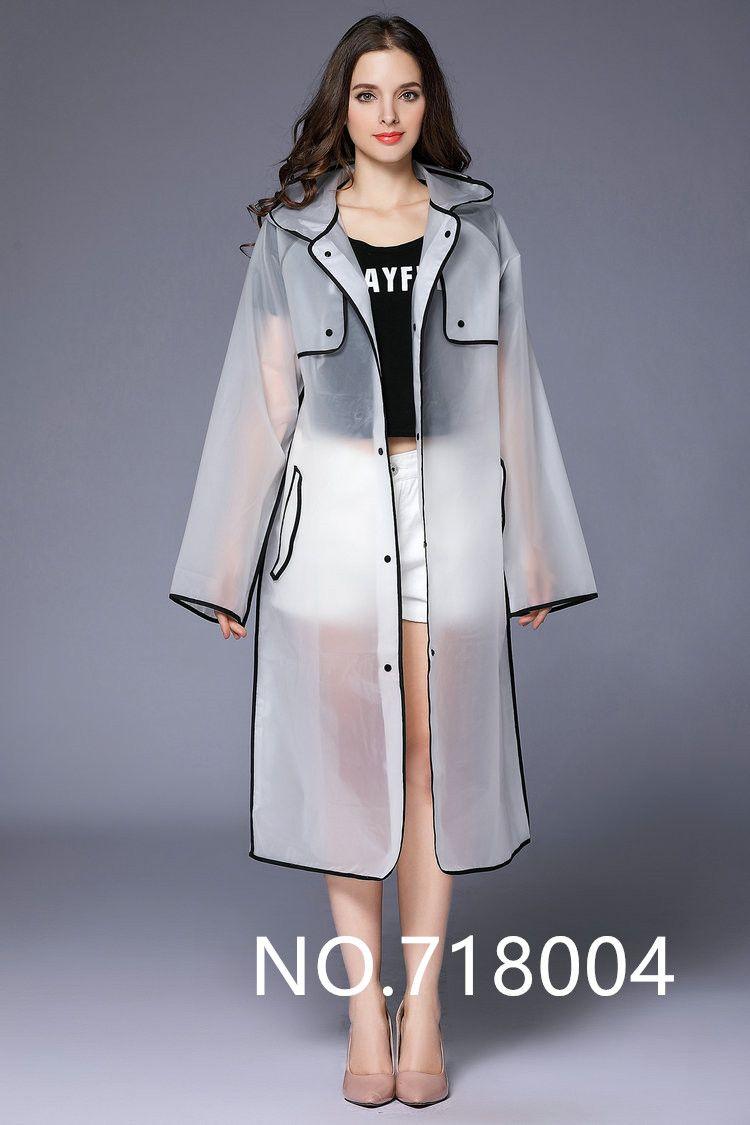 Eva Capa Moda Impermeable Hombres Poncho Mujeres Transparente BrBqnx5