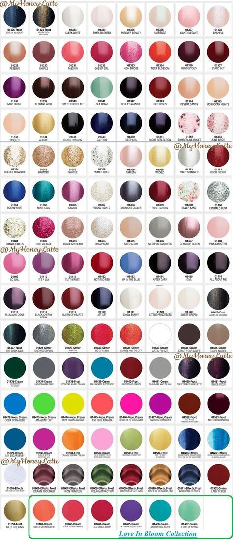 Gelish Gel Manicure Gelish Color Swatches Nails Pinterest
