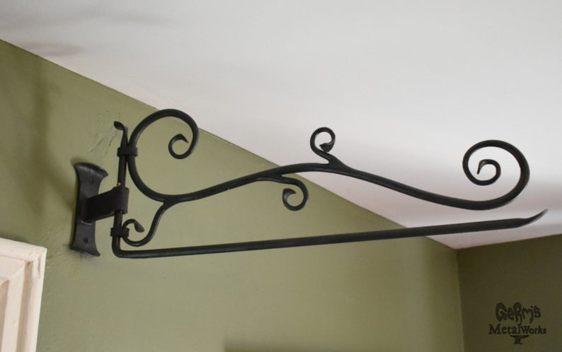 Curtain Rod Hand Forged Swing Arm Curtain Decorative Rod