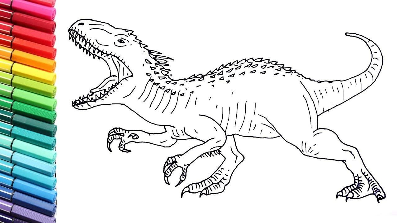 Awesome Coloring Page Of Indominus Rex that you must know