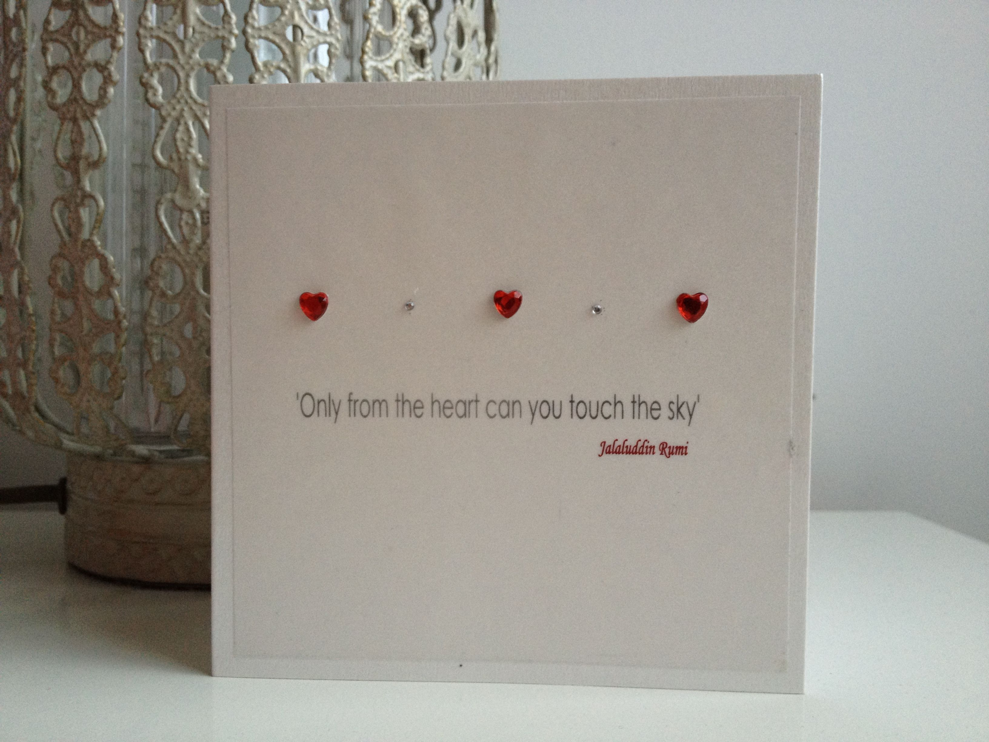 simple love quotes  what a great little greeting card to