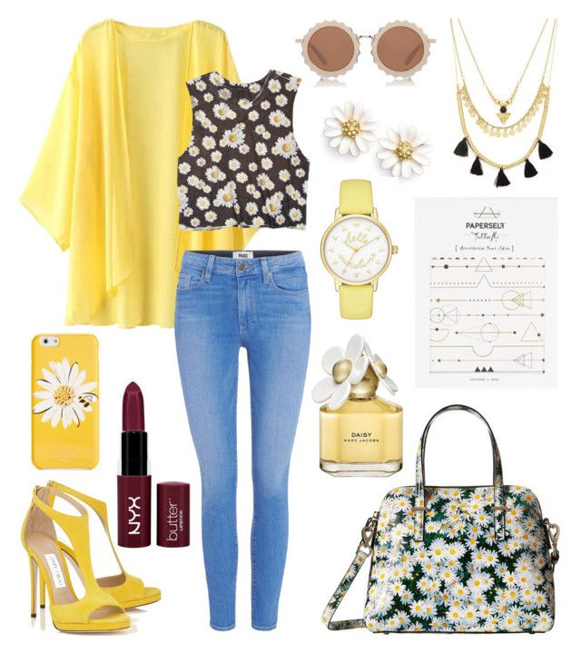 """""""🌼🌼🌼"""" by angelicaaans ❤ liked on Polyvore featuring Kate Spade, Escalier, dELiA*s, Marc Jacobs, NYX, House of Holland, Forever 21, Topshop and Paige Denim"""
