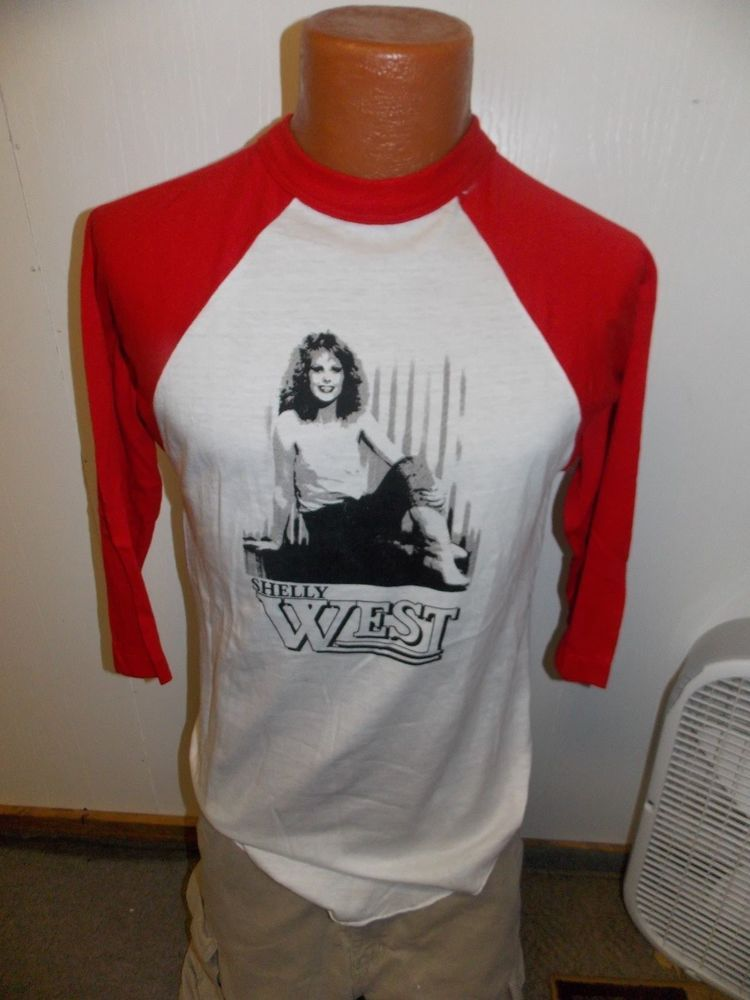 3609f9b65c5 TRUE Vintage SHELLY WEST COUNTRY Singer Adult RAGLAN 3 4 SLEEVE Shirt Size  L  Sportswear  BasicTee