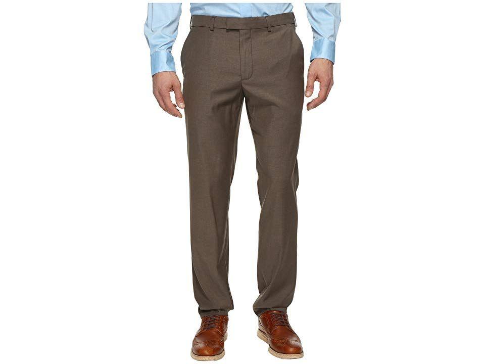 4b7a2d23 Perry Ellis Portfolio Modern Fit Flat Front Bengaline Pant (Rain Drum) Men's  Dress Pants
