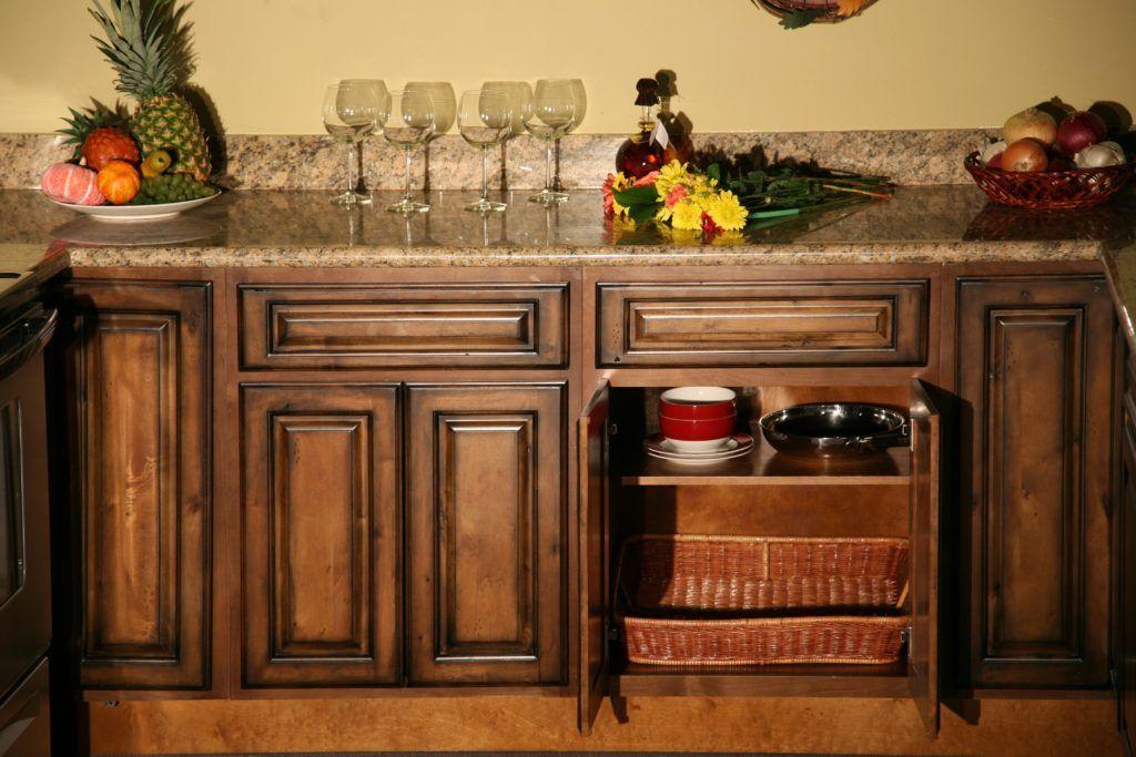 Golden Pecan Kitchen Cabinets