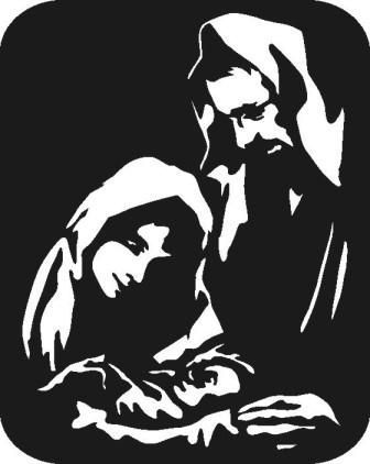 Free Silhoutte Nativity Scene Patterns