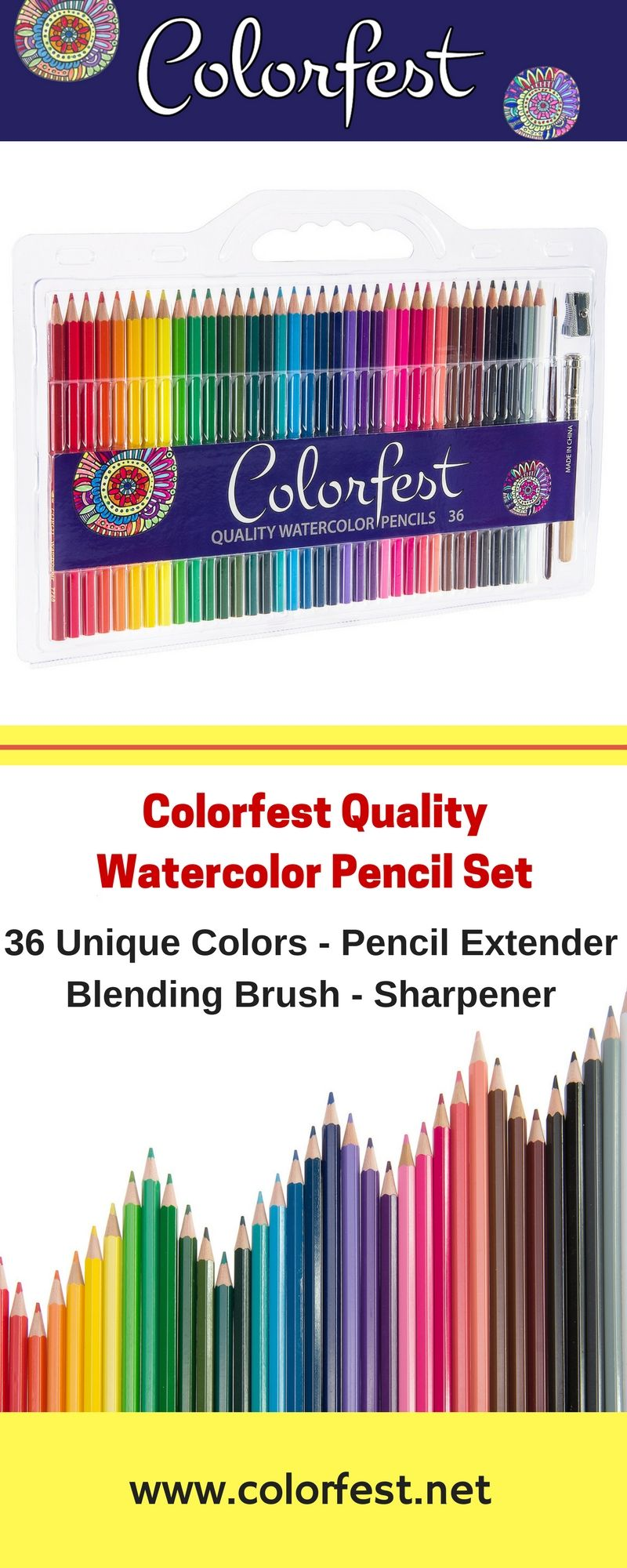 Artist Grade Watercolor Pencil Set Use Dry Like Regular Colored