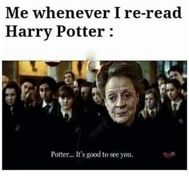 It's good to see you! —@ipotterheads