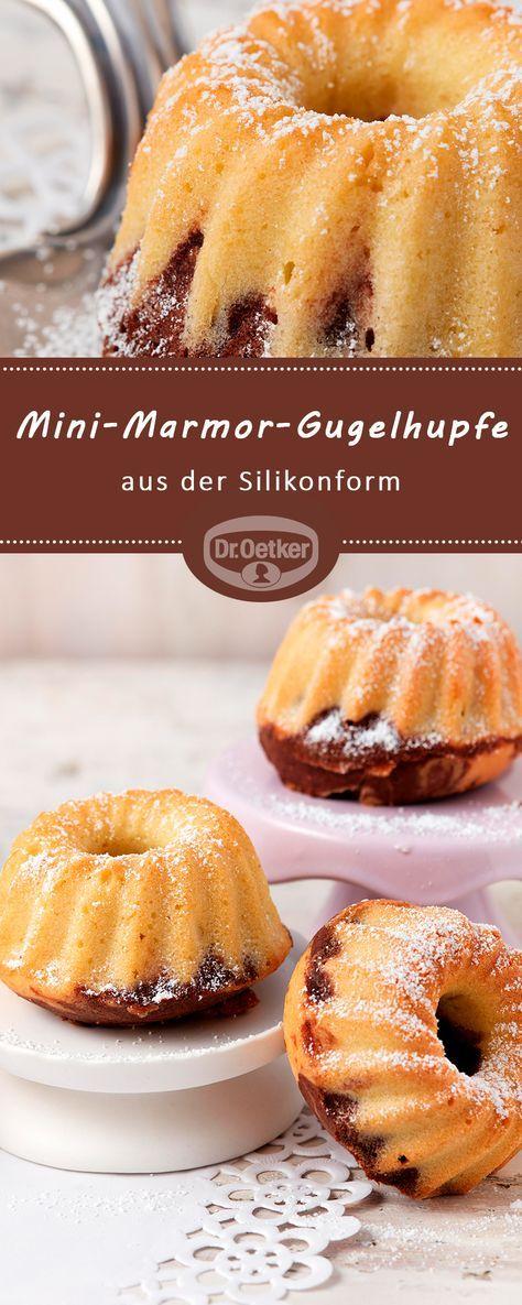 Mini-Marmor-Gugelhupfe aus der Silikonform