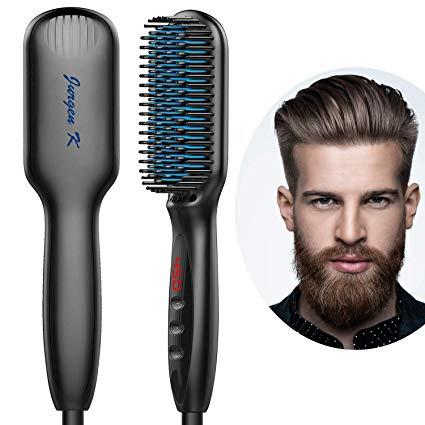 Amazon Com Beard Straightener For Men Ceramic Ionic Beard Straightening Comb With Fast Heating Beard Straightening Straightening Brush Straightening Comb