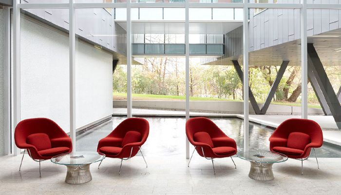 Womb Chair with Platner Coffee Table