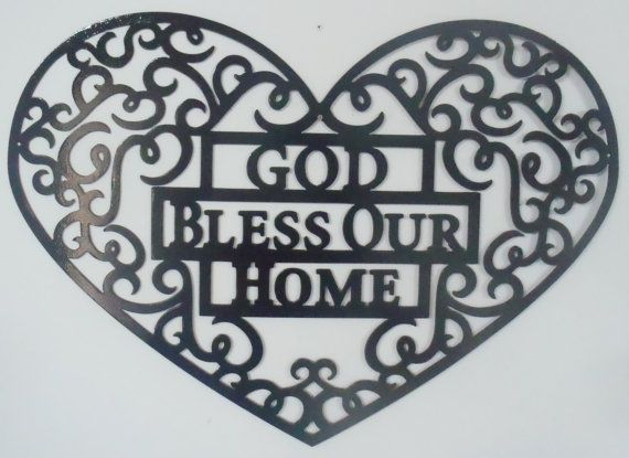 God Bless Our Home Metal art, Wall Decor | Art walls, Wall decor and ...