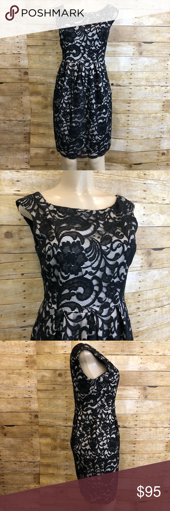 Nwt eliza j black lace formal dress size nwt lynnetteus