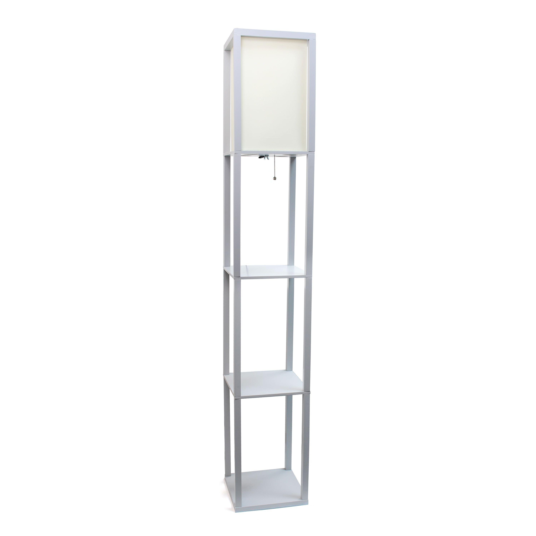 Home Floor Lamp With Shelves Wood Floor Lamp Floor Lamp