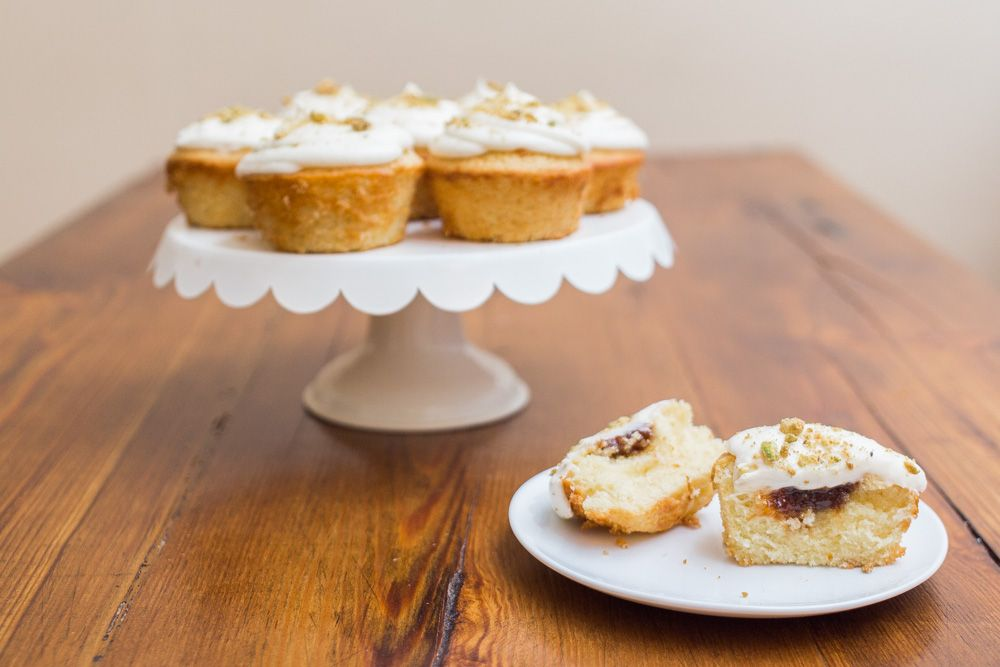 Honey Fig Cupcakes + Goat Cheese Frosting | Becca Bakes