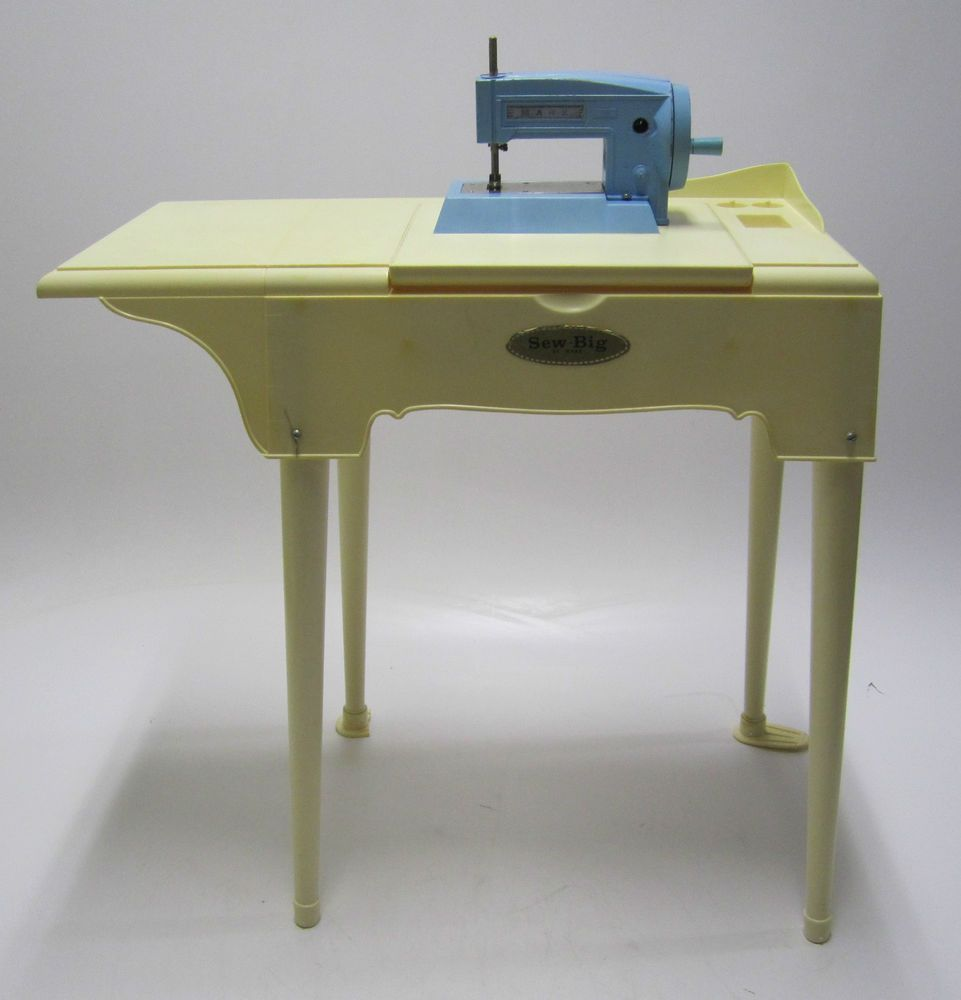 Vintage Marx Big Sew Toy Sewing Machine & Stand/Table #Marx