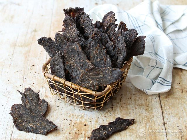 The Best Low-Carb Homemade Beef Jerky | Recipe | Beef ...