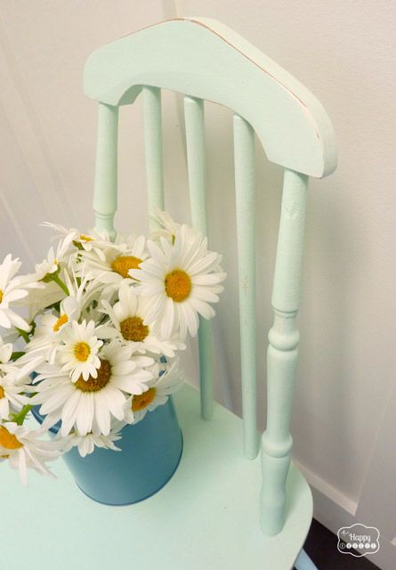 DIY Chalk Paint free mint chair in entry