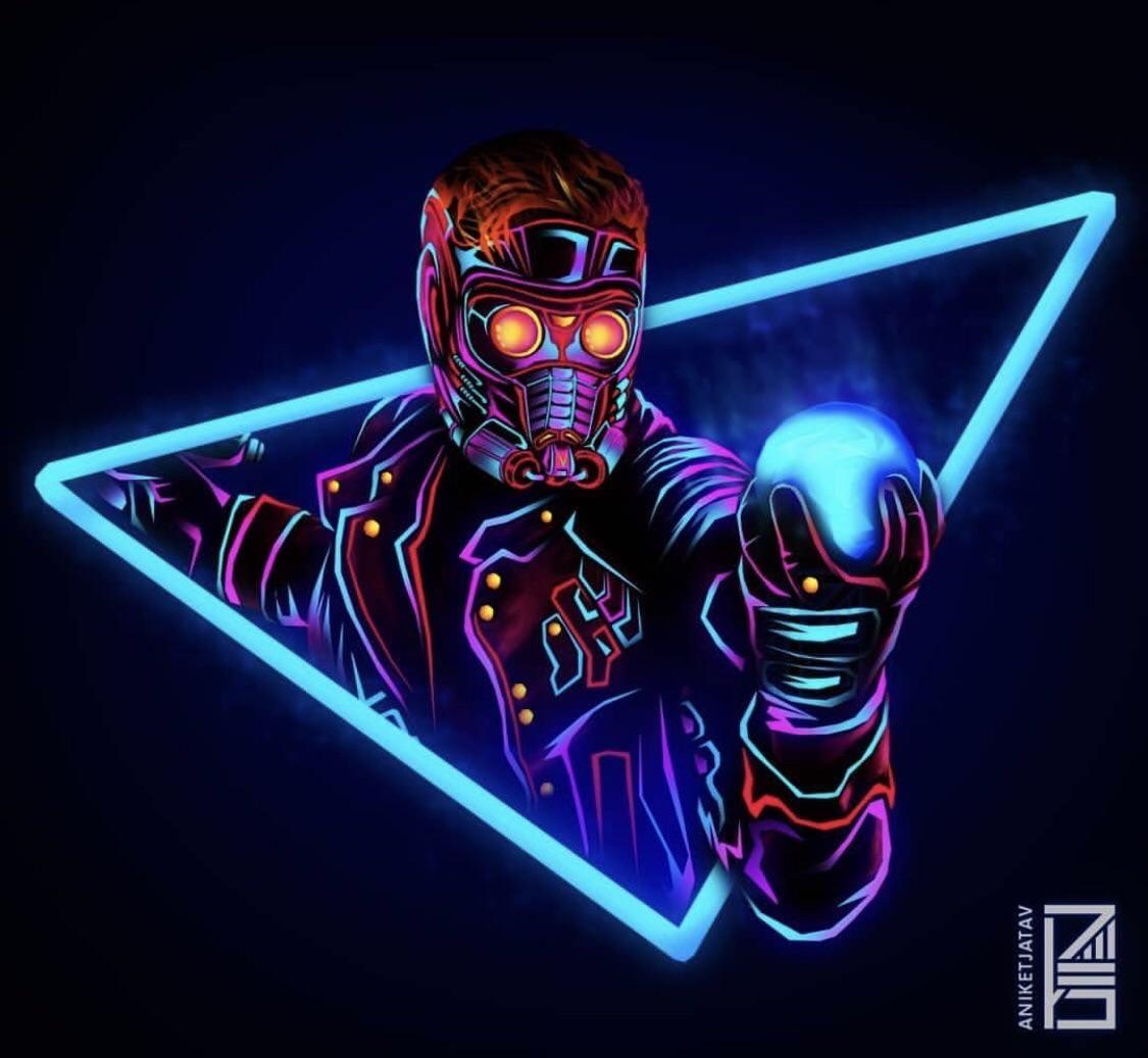 Neon Star Lord Filmixer Fmx Movies Fanart Geek Guardians Of