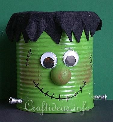 DIY Halloween  DIY Frankie the Friendly Frankenstein Monster DIY - halloween milk jug decorations