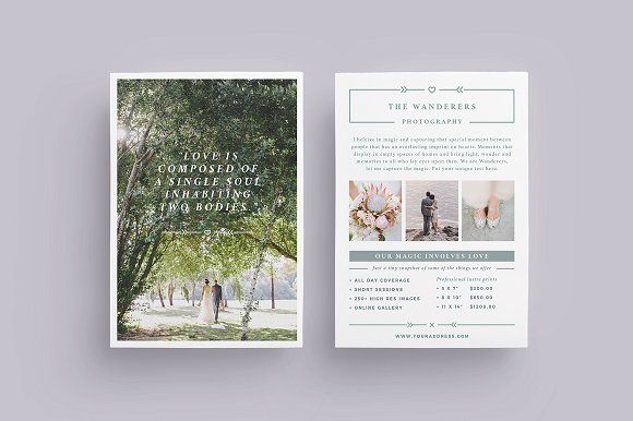 Wanderers Wedding Flyer Price List By  Collective On