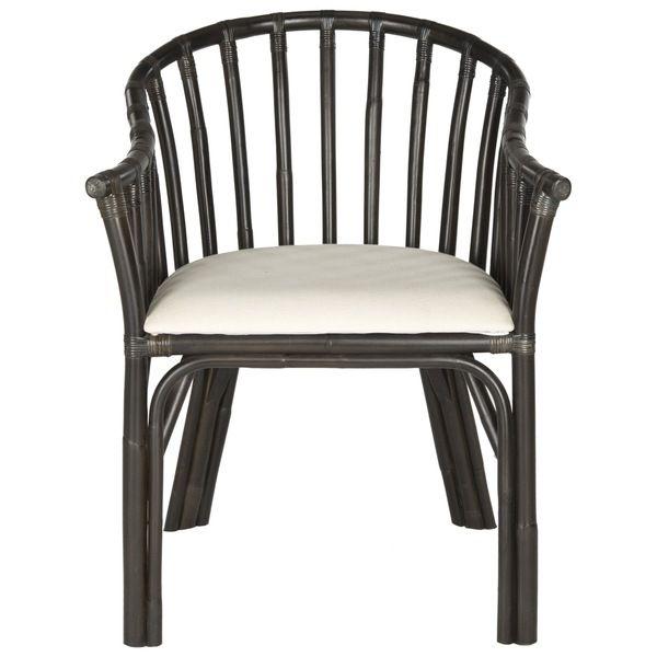 Safavieh Gino Black/ White Cushion Arm Chair (SEA4017A) chairs