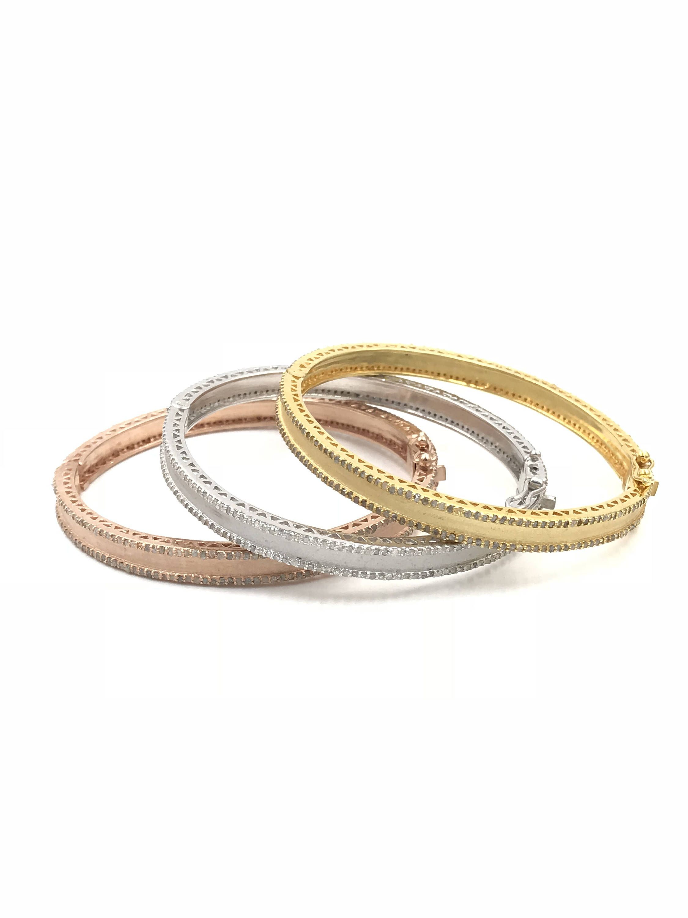 gold cosmos yellow products and sterling bangles manu bracelet silver bangle diamond
