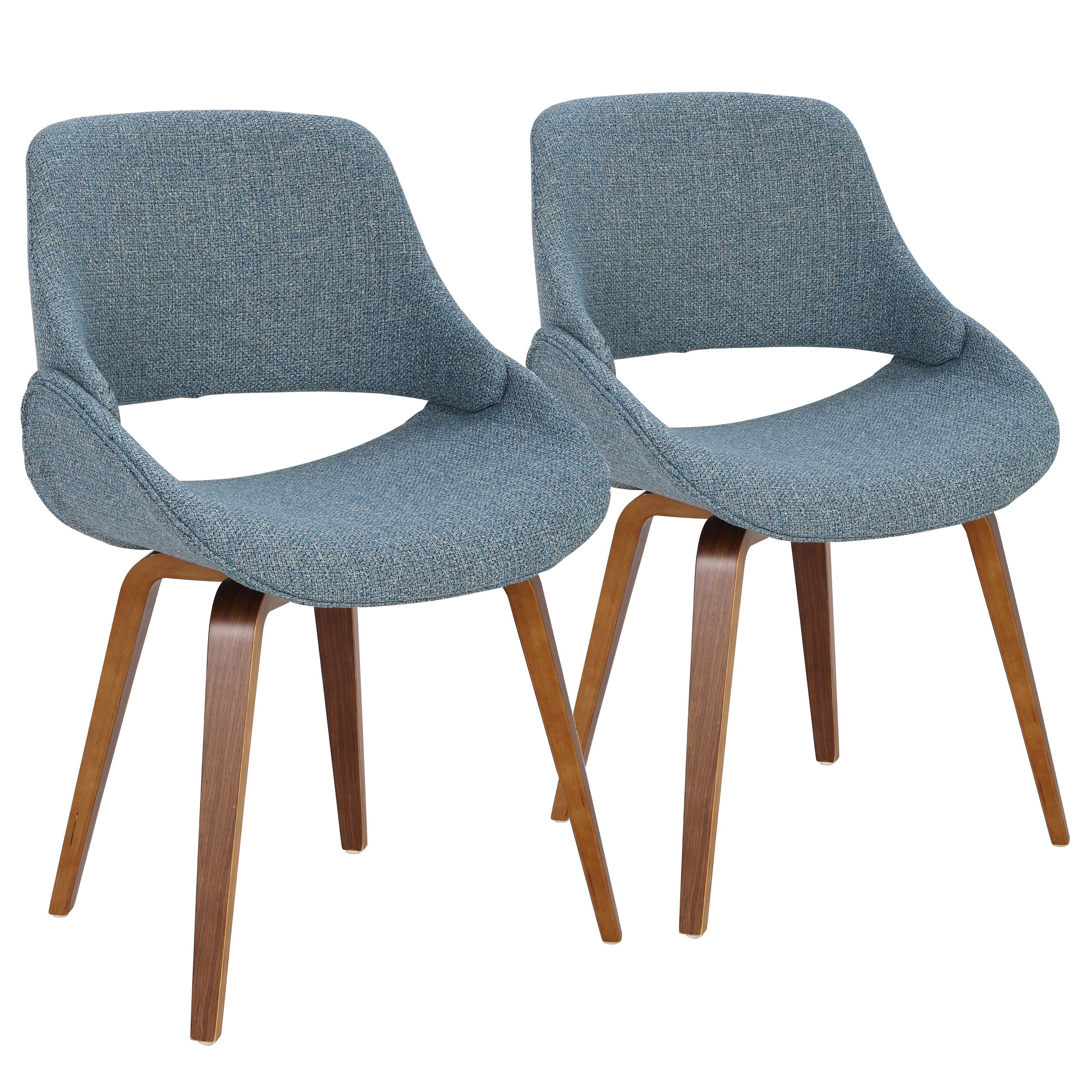 Fabrico Dining Accent Chair Set Of 2 Blue Beige Gray Dining