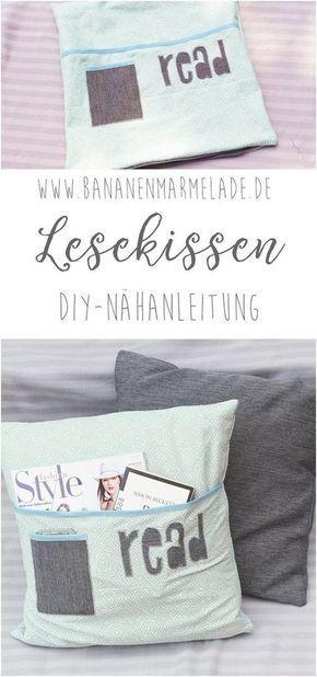 Photo of {Näh-Anleitung} Lesekissen mit Bücherfach – BANANENMARMELADE
