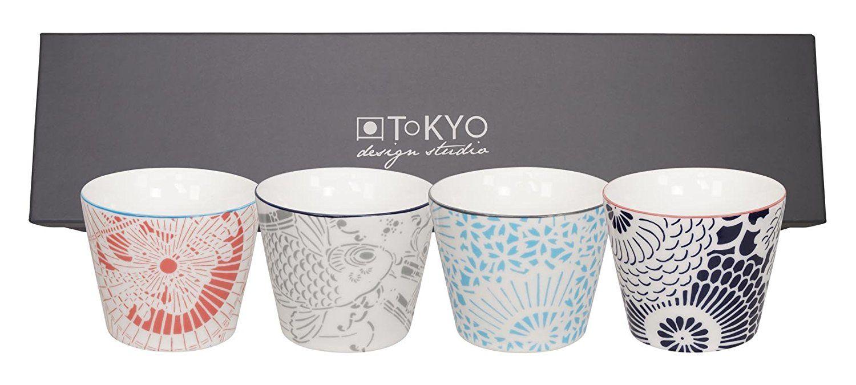 Werbung* Tokyo Design Studio Becher-Set Teebecher Tassen SHIKI, 4tlg ...