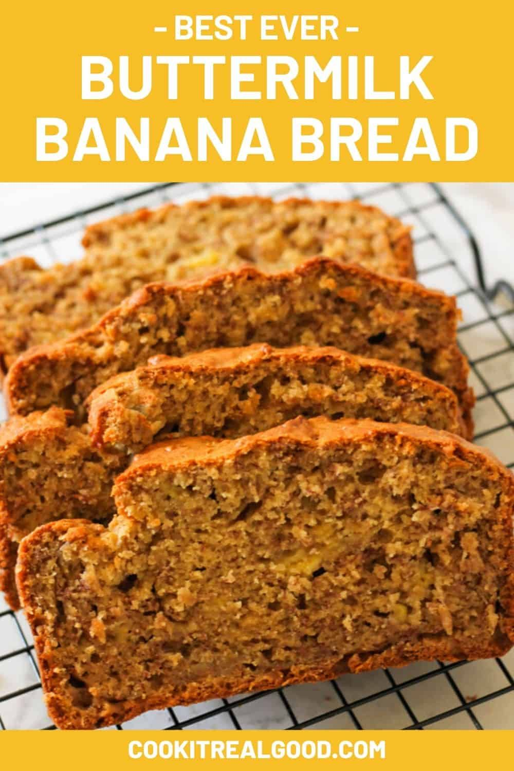 Buttermilk Banana Bread Recipe Cook It Real Good In 2020 Buttermilk Banana Bread Banana Bread Recipes Banana Recipes