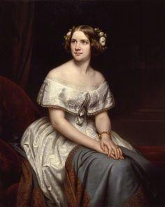 Portrait of Swedish opera singer Johanna Maria (Jenny Lind) 1861 Eduard Magnus