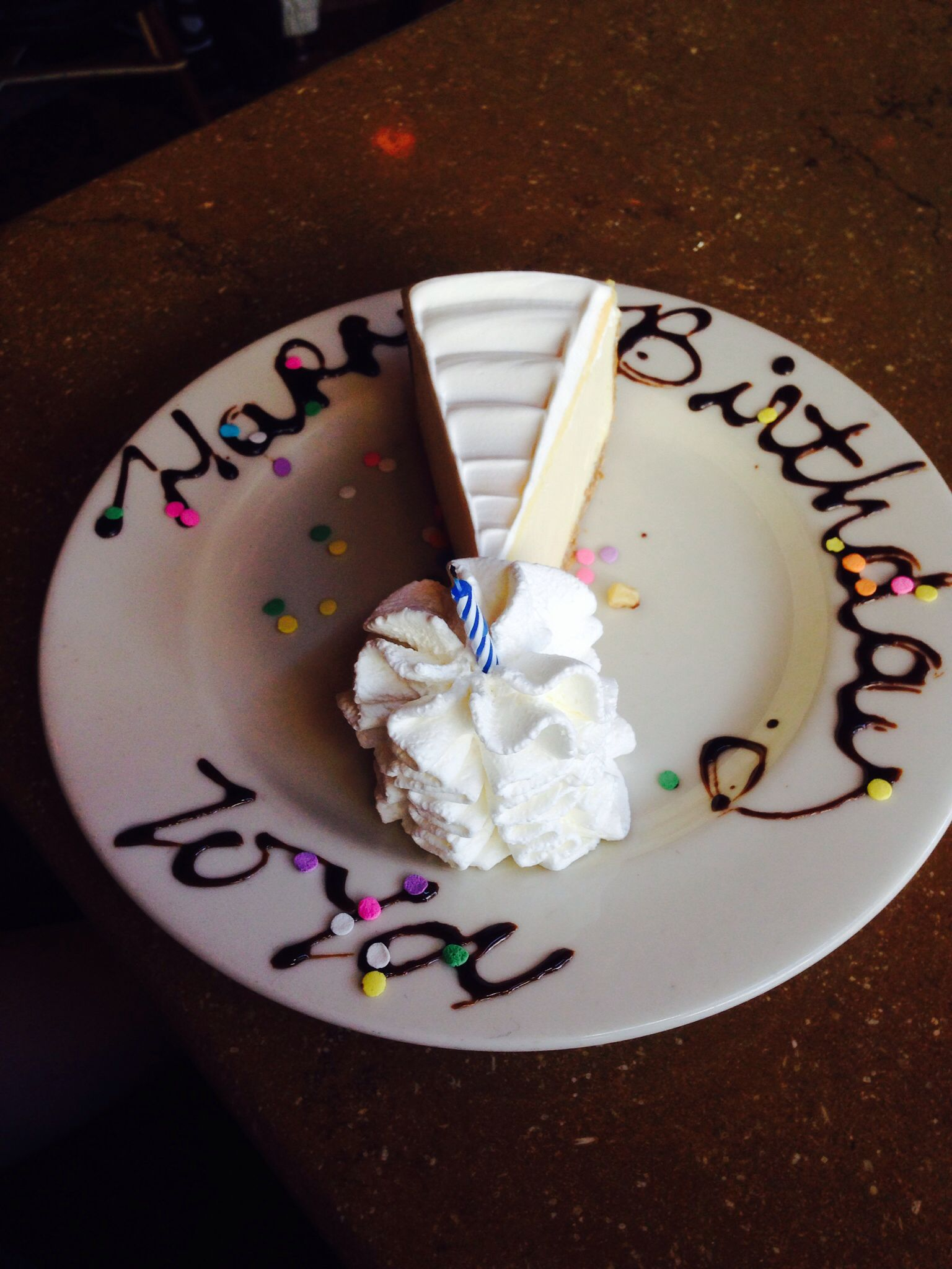 Fantastic Birthday Celebration At The Cheesecake Factory John Hancock Personalised Birthday Cards Beptaeletsinfo