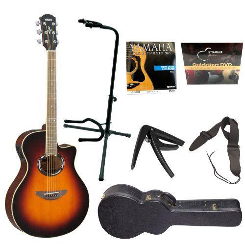 Yamaha Apx500ii Thinline Cutaway Acoustic Electric Guitar Old Violin Sunburst Yamaha Vinyl Hardshell Guitar Case On Stage Guitar Strap On Stage Tubular Guit