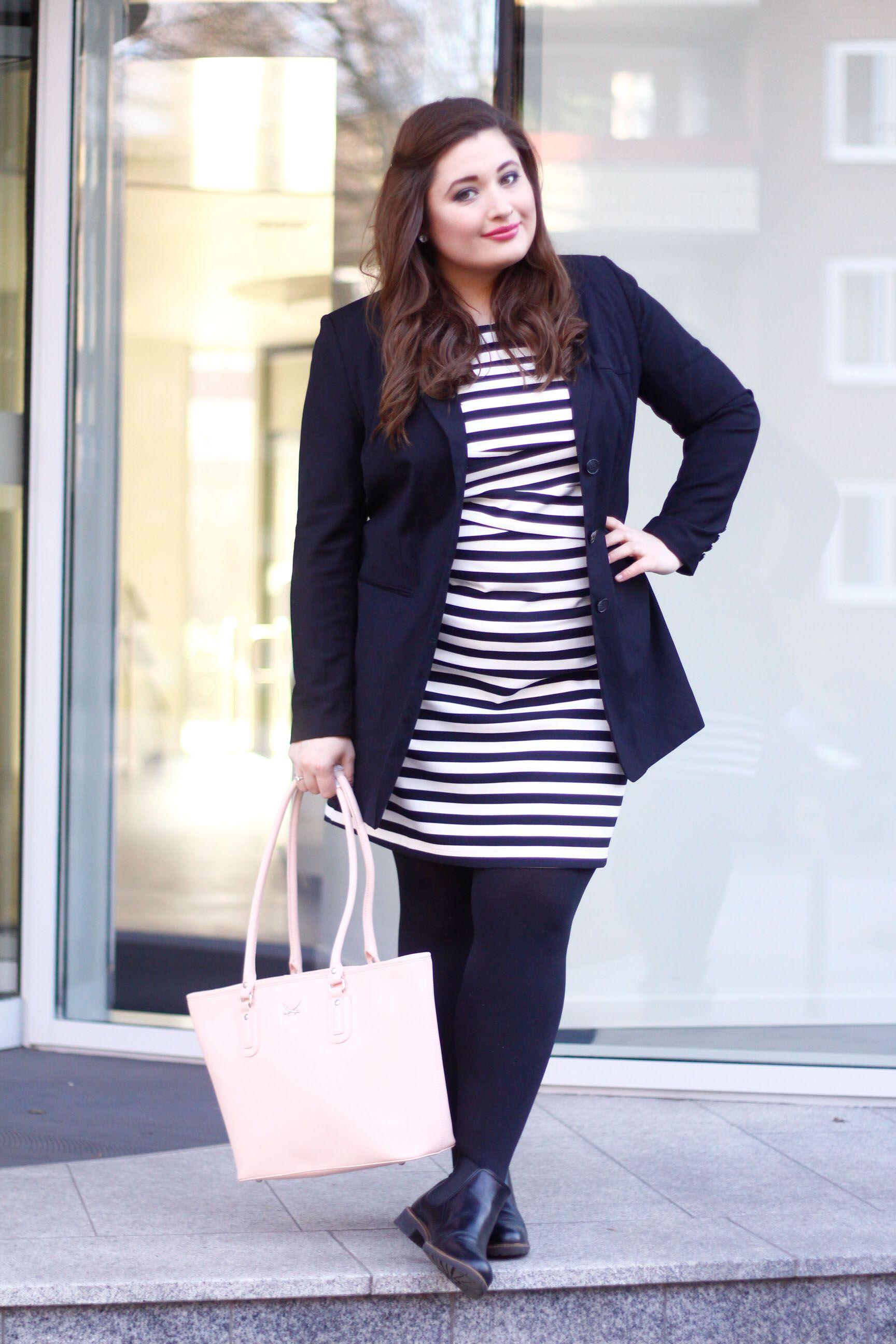 00abbb3096b5d PLUS SIZE FASHION  Streifen machen schön! Zwei Outfit Inspirationen ...