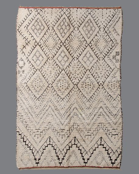 Urban Outfitters Berber Rug: Vintage Moroccan Rug, Beni Ouarain #BO153