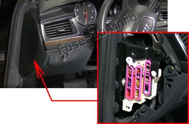 Audi A6    S6  C7  4g  2012  2013  2014  2015  2016  2017  2018  Fuse Box Location