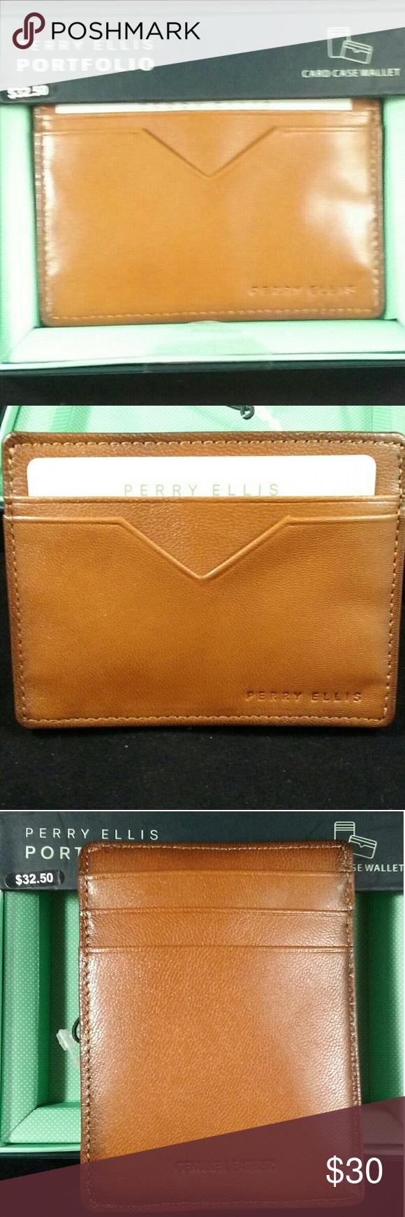 c3352b9d9af7 Perry Ellis Card Case Wallet NWT Fresh off the shelf Perry Ellis ...