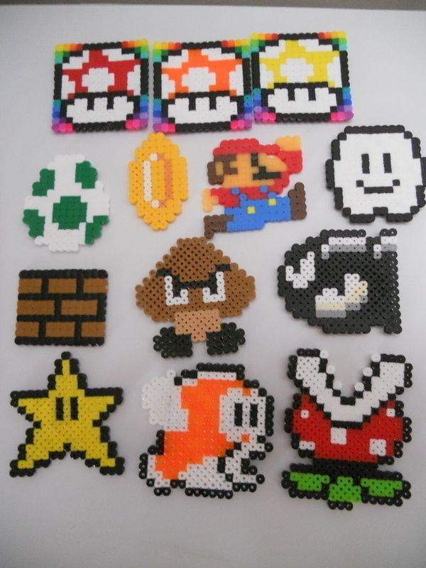 Ster Mario Bros Strijkkralen Strijkkralen Mario Character En