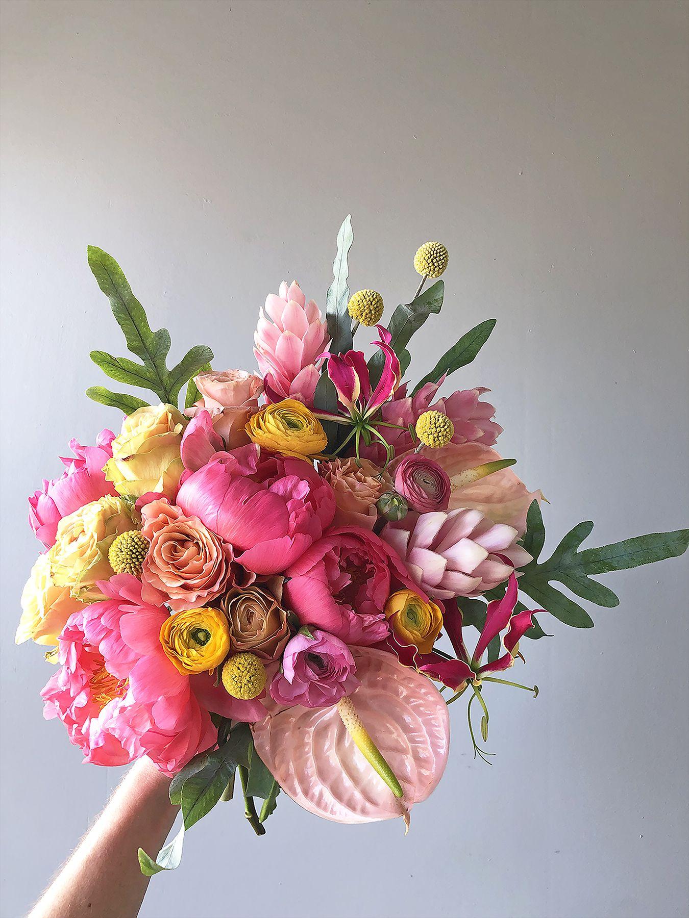 Punchy Pinks Bouquet Fuchsia Flower Floral Arrangements Diy Flower Delivery