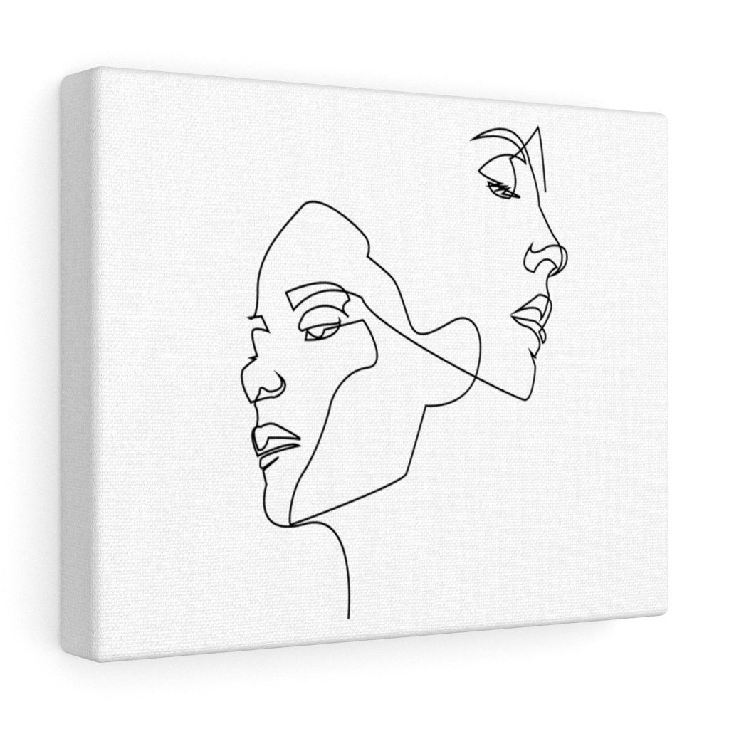 Photo of Continuous Line Drawing Minimalist Woman Canvas Gallery Wrap – 10″ × 8″ / Premium Gallery Wraps (1.25″)