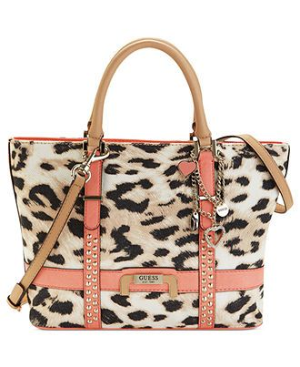 GUESS Handbag, Caytie Small Carryall coral or black