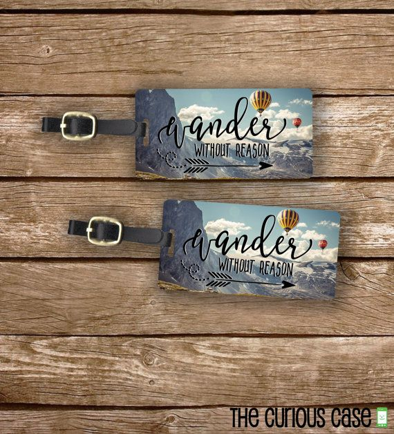 Luggage Tag Set Wander without Reason Hot Air by CuriousCaseGifts