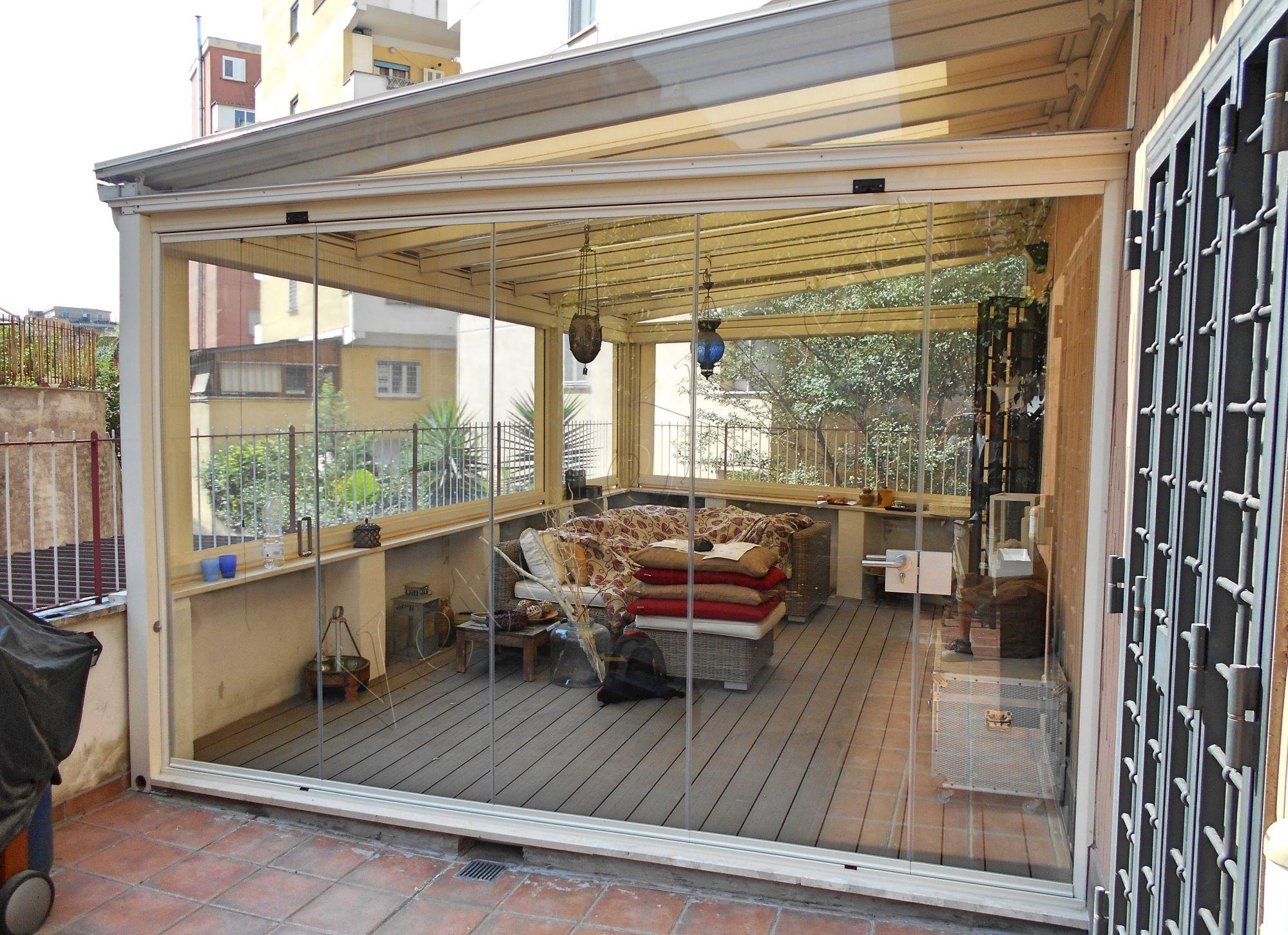 Vetrate pieghevoli e vetrate a scomparsa glassroom roma for Vetroexpert