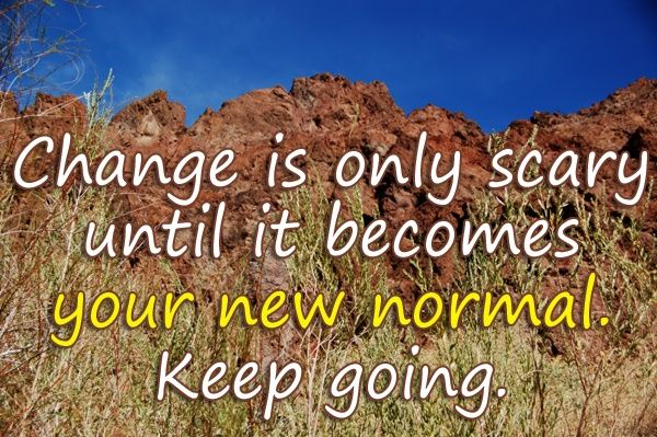 Change Is Only Scary Until It Becomes Your New Normal Keep Going