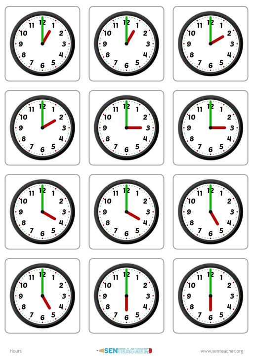 create clock face matching cards with various times math printable worksheets clock worksheets. Black Bedroom Furniture Sets. Home Design Ideas
